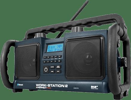Krachtige bouwradio voor op bouwplaatsen
